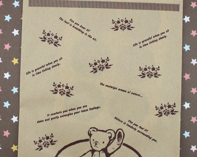 Hello Bear Paper Bags n Stickers Set