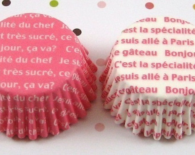 Mini Pink n White Cupcake Liners