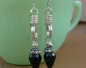 VICTORIAN PUNK-handmade sterling earrings