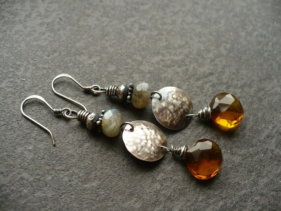 DUSK-handmade sterling silver earrings