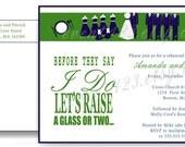 Wedding Party Rehersal Dinner Invitation // Custom Wedding Grooms Dinner Invitation // Wedding Party Invitation