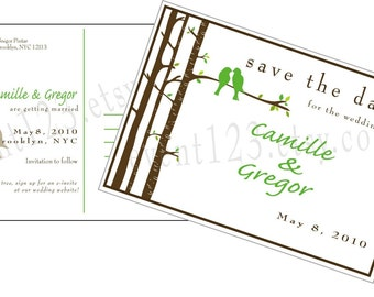 Custom Post Card Save the Date