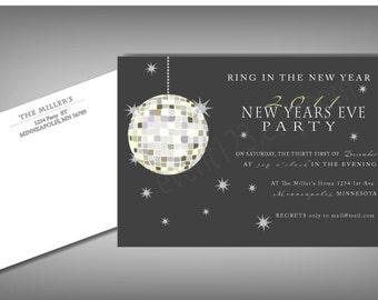 New Years Invitation | Ball Drop |  New Years Party Invitation