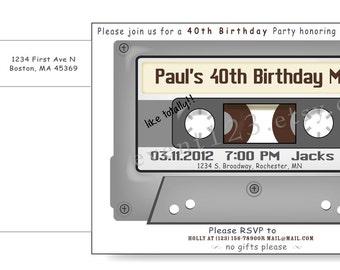 Cassette Tape Invitation