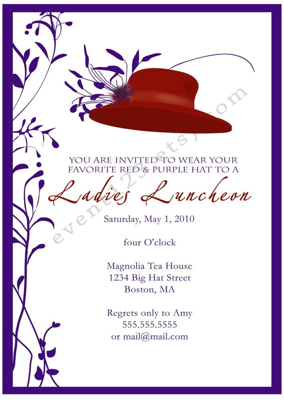 Kentucky Derby Party Invitation Horse Races Party Red