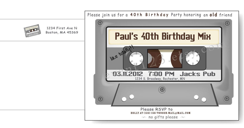 Cassette Tape Invitation with amazing invitations template