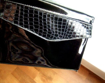 Vintage Black Blondie Croc Clutch...