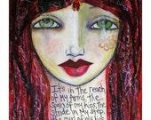 Phenomenal Woman Painting Fine Art Print Mixed Media