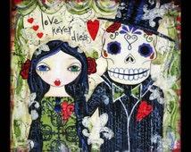 Love Never Dies Fine Art Print of Mixed Media painting