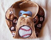 Brown Minky Baseball Pacifinder