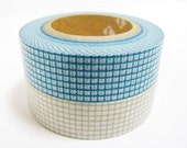 mt Washi Masking Tape - Grey & Teal Green Grid Check - Set 2 (15m rolls)