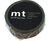 mt Washi Masking Tape -  Dark Grey, Charcoal Grey & Ash Pink - Set 3 (15m rolls)