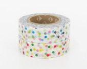 mt Washi Masking Tape - Confetti Dots Red & Blue - Set 2 (15m rolls)