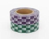mt Washi Masking Tape - Purple & Green Japanese Arrow - Set 2 (15m rolls)