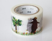 mt Washi Masking Tape - Dancing Bear - Limited Edition