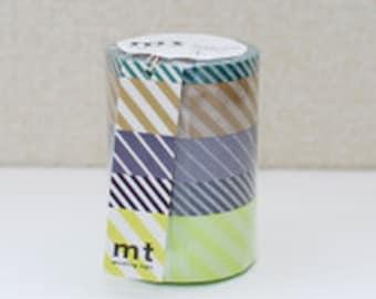 mt Washi Masking Tape - Stripes B - Set 5 (15m rolls)