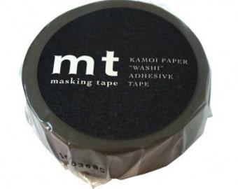 mt Washi Masking Tape -  Dark Grey, Charcoal Grey & Ash Pink - Set 3 (15m rolls)