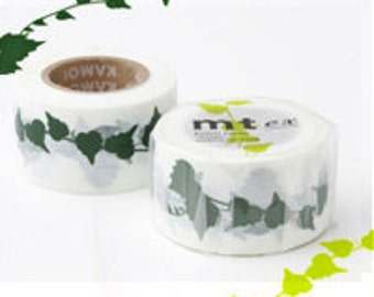 mt ex Washi Masking Tape - Green Ivy Leaf Vine (15m roll)