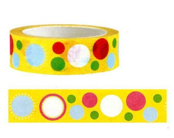 Funtape Masking Tape - Orange Spots