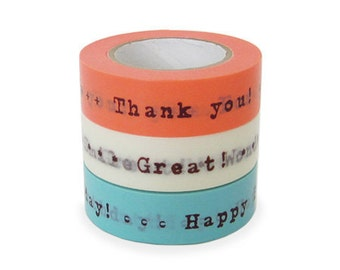 Colte Washi Masking Tape - Gift Messages - Set 3