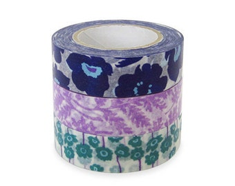 Colte Washi Masking Tape - Poppy Purple - Set 3 - Discontinued