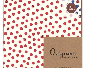 Japanese Origami Paper 15cm (6 inches) - Ladybug Dots