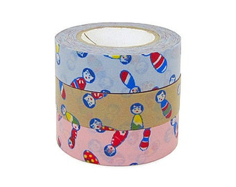 Classiky Japanese Washi Masking Tape - Kokeshi - Set 3