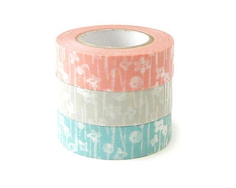 Classiky Washi Masking Tape - Small Flowers - Set 3