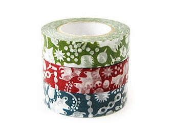 Classiky Washi Masking Tape - Squirrel Forest - Set 3
