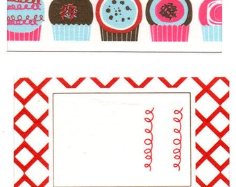 Funtape Masking Tape - Cupcake & Red Label - Wide Set 2