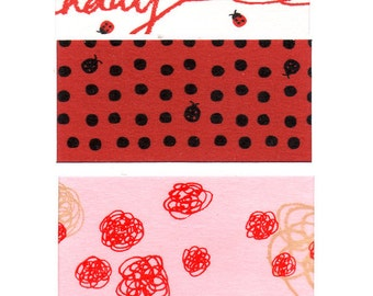 Funtape Masking Tape - Happy Birthday, Ladybug Dots & Fairy Floss - Wide Set 3