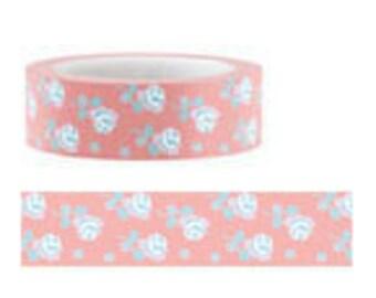 Funtape Masking Tape - Pink Roses