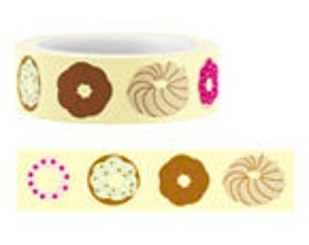 Funtape Masking Tape - Colourful Doughnuts