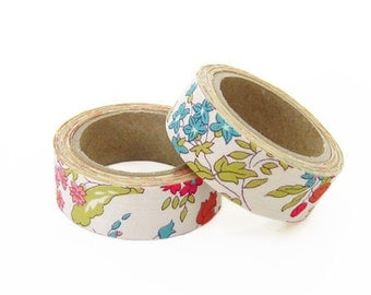 Liberty of London Fabric Masking Tape - Nancy Ann in Red - Set 2