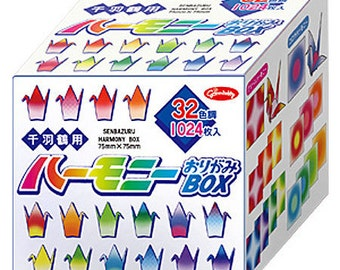 Japanese Origami Paper for Paper Cranes - 7.5cm Harmony sheets