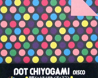Japanese Double-Sided Origami Paper - Disco Lights - 15cm (6 inches)