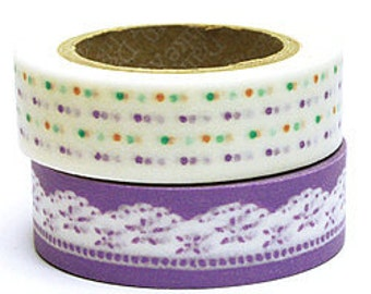 Decollections Masking Tape - Polka Dots & Lace - Set 2 - Lily
