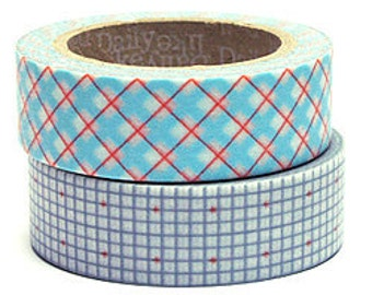 Decollections Masking Tape - Checks & Grid - Set 2 - Wash