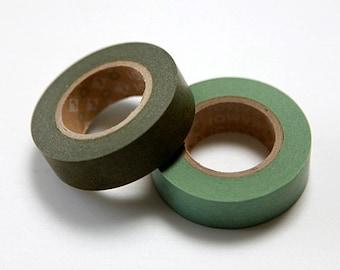 mt Washi Masking Tape - Olive (15m roll)