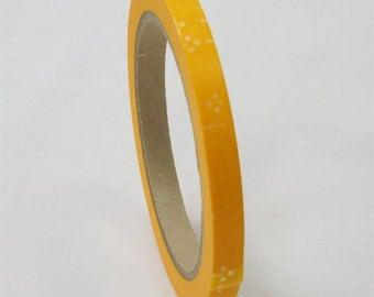 mt Washi Masking Tape - Yellow & White Flowers - Large core (35m roll)