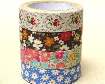 La Couture Fabric Masking Tape - Cotton Flowers
