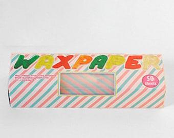 Season Wax Paper - Pink & Blue Stripes - Regular