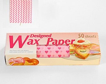 Season Wax Paper - Pink Hearts - Regular