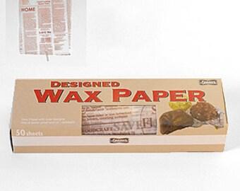 Season Wax Paper - Cocoa Text - Regular