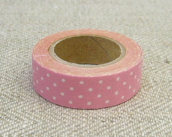 Classiky Fabric Masking Tape - Pink Polka Dots