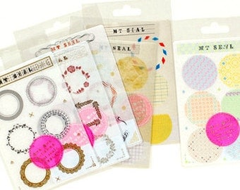 mt Washi Masking Tape Stickers - Natural Fun Frames & Borders