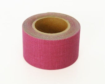 Classiky Linen Fabric Masking Tape - Cherry Pink - 30mm Wide