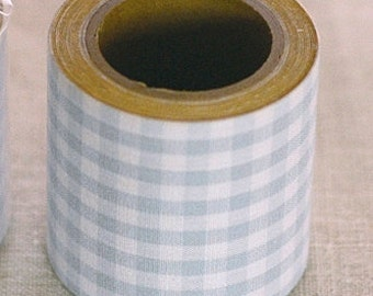 Classiky Fabric Masking Tape - Baby Blue Gingham Check - 45mm Wide