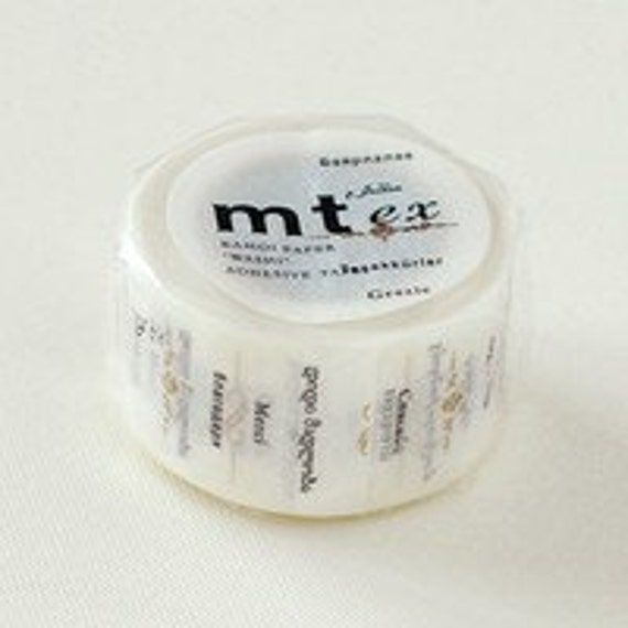 mt ex Washi Masking Tape - Thank You  (15m roll)