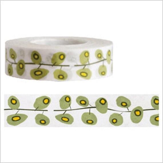 Funtape Masking Tape - Green Ivy Vine - Japanese